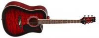 Акустическая гитара martinez faw - 802 cq / twrs